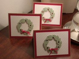 Christmas Cards - Potpourri Basket (Sizzix Damask embossing)